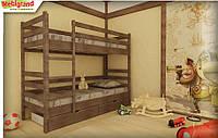 "Ліжко дитяче двох'ярусне дерев'яне Соня MebiGrand / Кровать двухъярусная детская деревянная ""Соня"" MebiGrand"