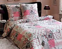 Комплект постельного белья 180*220 см,  двуспальный ранфорс 100% хлопок. (арт.5311)