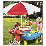Little Tikes стіл - пісочниця з парасолькою, фото 2