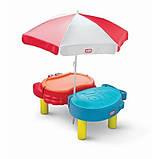 Little Tikes стіл - пісочниця з парасолькою, фото 3