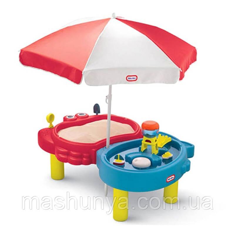 Little Tikes стіл - пісочниця з парасолькою