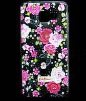 Чехол накладка для Samsung Galaxy A3 2016 SM-A310 силиконовый Diamond Cath Kidston, Ночные розы