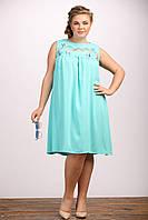 Платье Моргана штапель летнее из натуральной ткани большого размера 48-72 батал