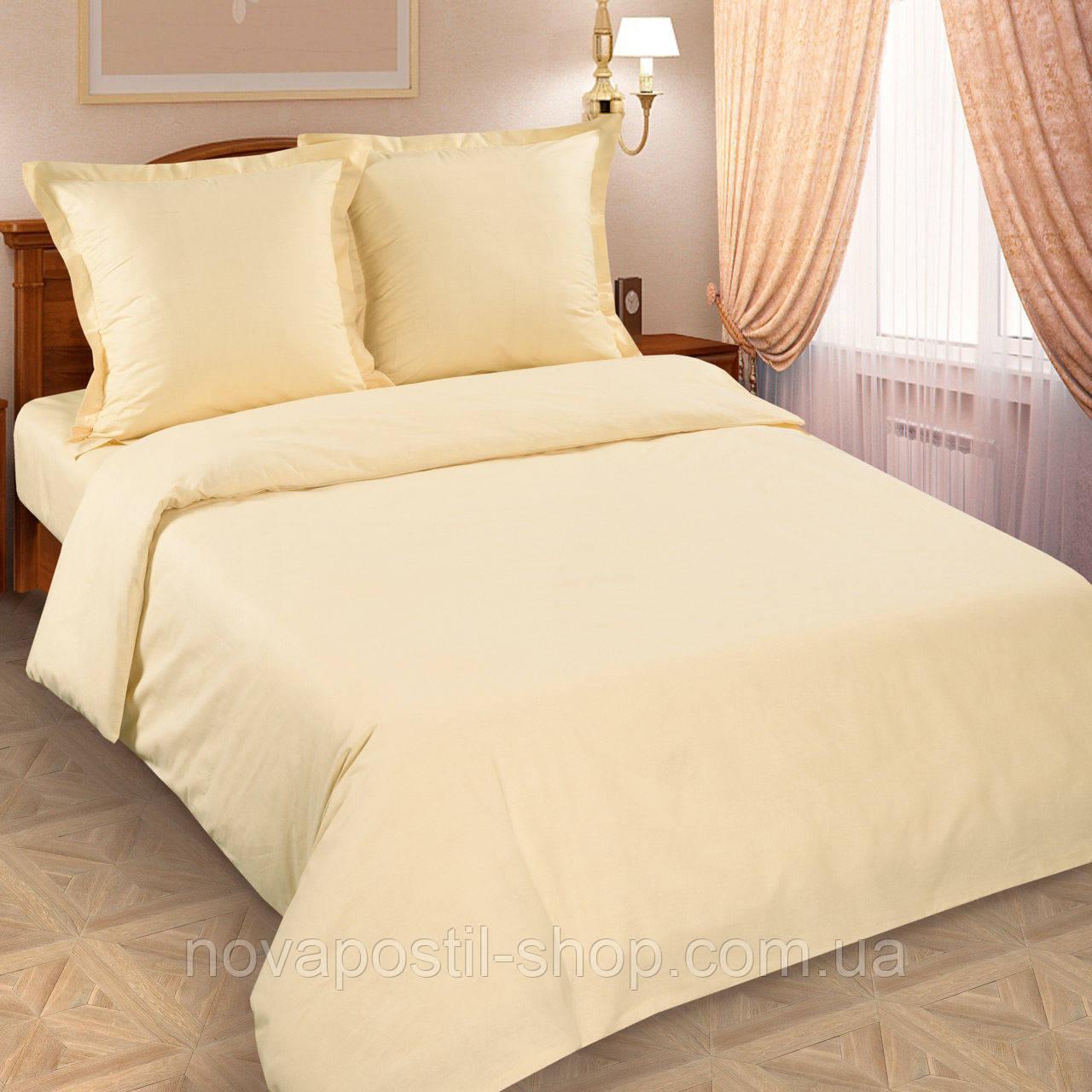 Ткань для постельного белья однотонная, поплин Шампань