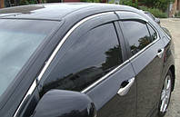 Дефлекторы окон (ветровики) Honda Accord 2008-2012 Sedan Хром молдинг