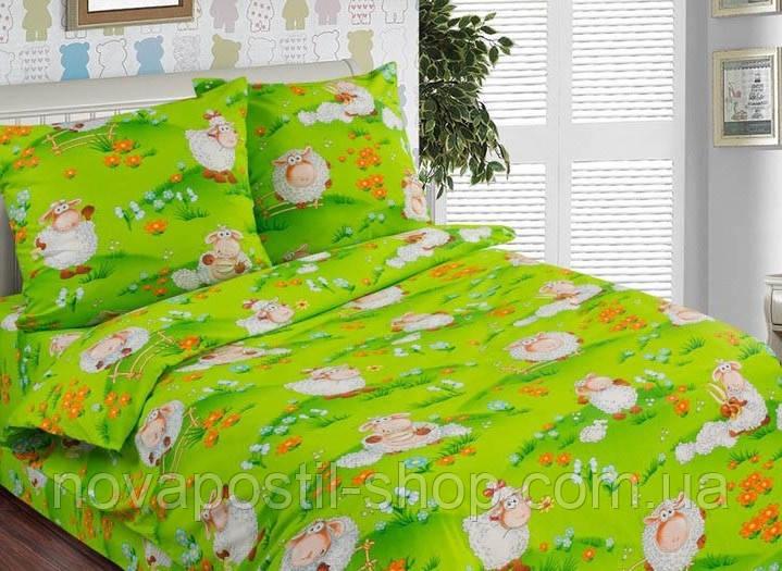 Ткань для детского постельного белья, поплин Веселая лужайка