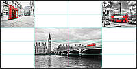 Фотопанно Лондон. Печать на кафеле, плитка 20х50см.