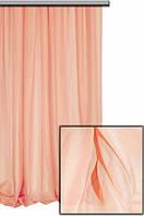 Тюль шифон  однотонный персиковый