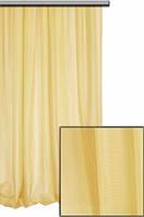 Тюль шифон  однотонный желтый, фото 1