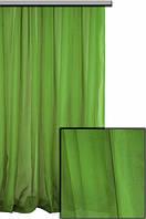 Тюль шифон  однотонный зеленый насыщенный