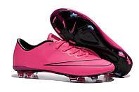 Мужские бутсы Nike Mercurial Vapor X FG Hyper Pink, фото 1