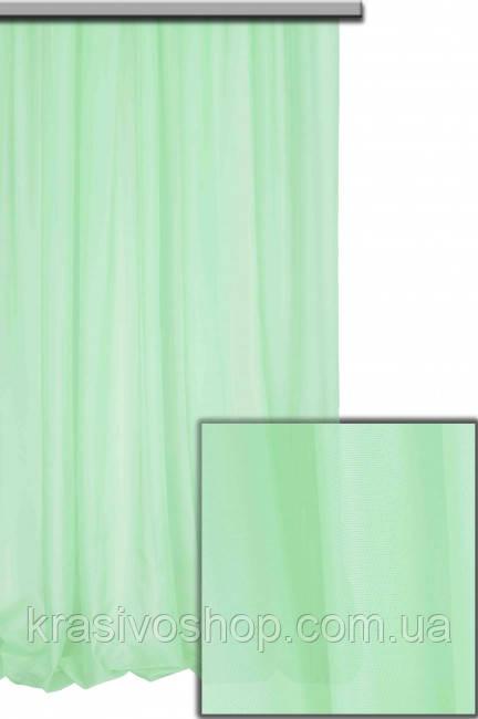 Тюль шифон  однотонный мятный 1-45