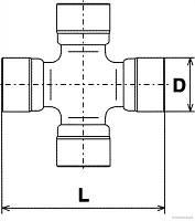 GMB GUM-99 = MR 377128 = MR 165561 = J2925014 = Febest ASM-99 Крестовина (30*102 )