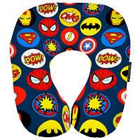 Дорожная подушка-подголовник Супергерои подарки на день рождения