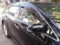 Дефлекторы окон (ветровики) Toyota Venza 2009 -> 5дв  Хром молдинг, фото 1