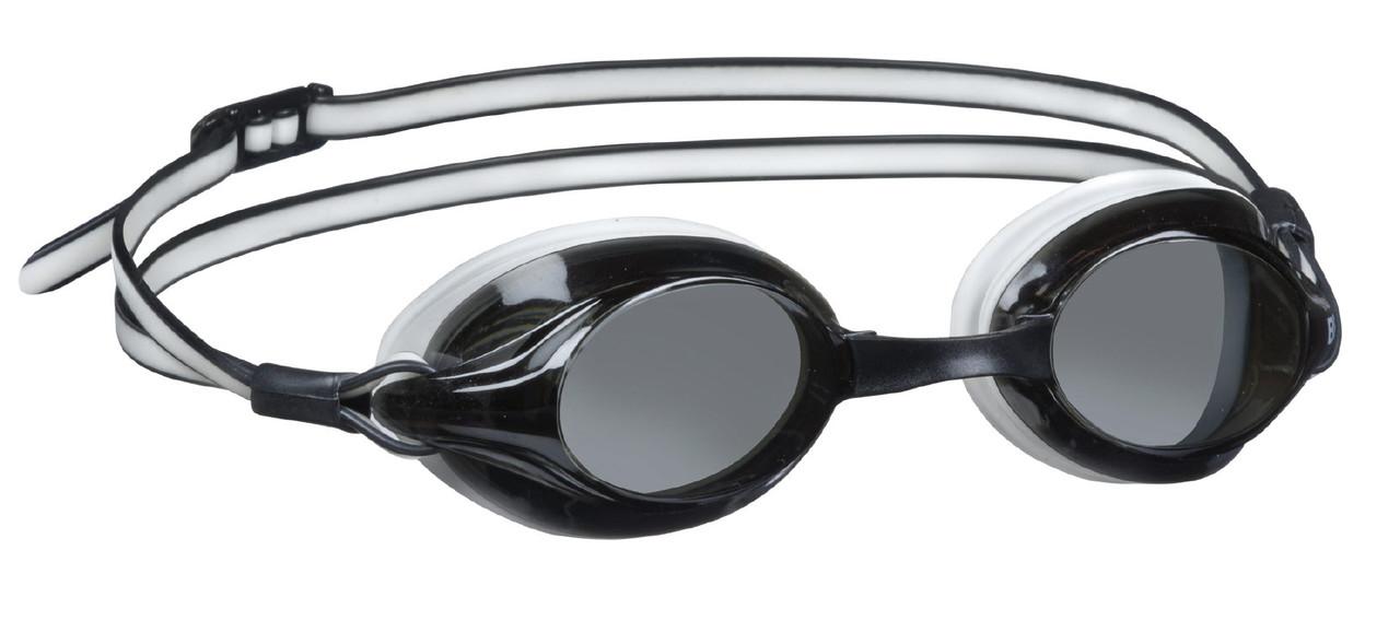 Очки для плавания со сменными перемычками BECO Competition чёрный/белый 9932 01
