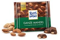 Шоколад Ritter Sport Ganze mandel 100 г. Германия!