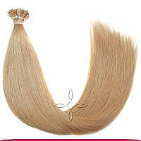 Натуральные славянские волосы на капсулах 65-70 см 100 грамм, Пшеничный №14