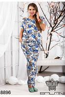 Модный легкий костюм брючный 48-54р, доставка по Украине