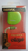 СЗУ Remax 2100 mA + USB кабель для iPhone 5/5S green