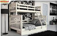 "Ліжко дитяче двох'ярусне Скандинавия MebiGrand / Кровать двухъярусная детская ""Скандинавия"" МебиГранд"