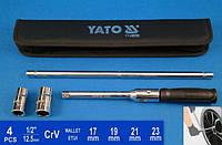 Баллонный крестовой ключ 17/19/21/23мм Yato YT-08035