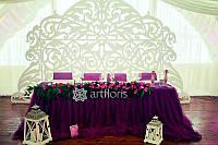 Декор для украшения залов, прокат ажурного декора и текстиля для свадьбы.  Компания Артфлорис предлагает креат