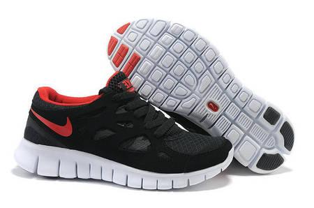 Кроссовки Nike Free Run 2.0 Black Red Черные мужские