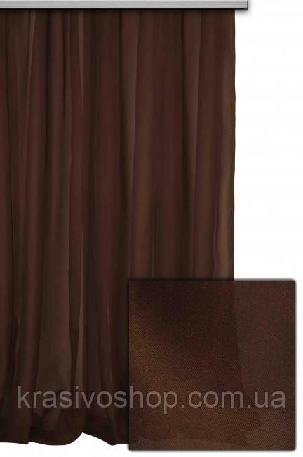 Тюль шифон  однотонный шифон  шоколадный  № С49