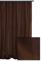 Тюль шифон  однотонный шифон  шоколадный  № С49, фото 1