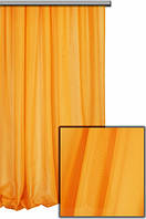 Тюль шифон однотонный оранжевый С76, фото 1