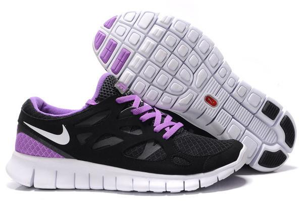 Кроссовки Nike Free Run 2.0 Black Violet Черные женские