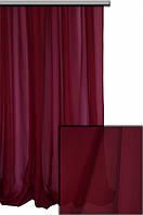 Тюль шифон однотонный бордовый   А86, фото 1