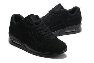 Кроссовки Nike Air Max 90 VT Black Черные Замш