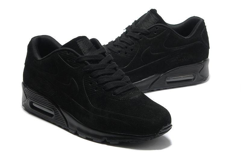42d8a15c Кроссовки Nike Air Max 90 VT Black Черные Замш - SportBoom.com.ua -