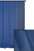 Тюль шифон однотонный синий С46, фото 1