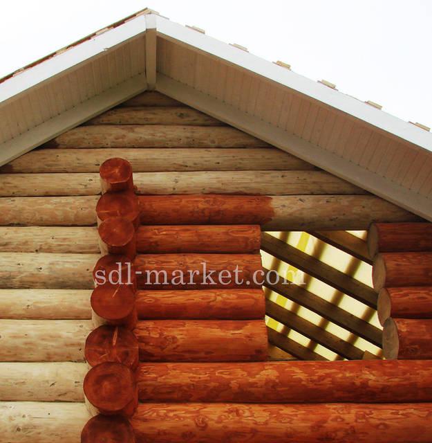 Покраска деревянного дома 1