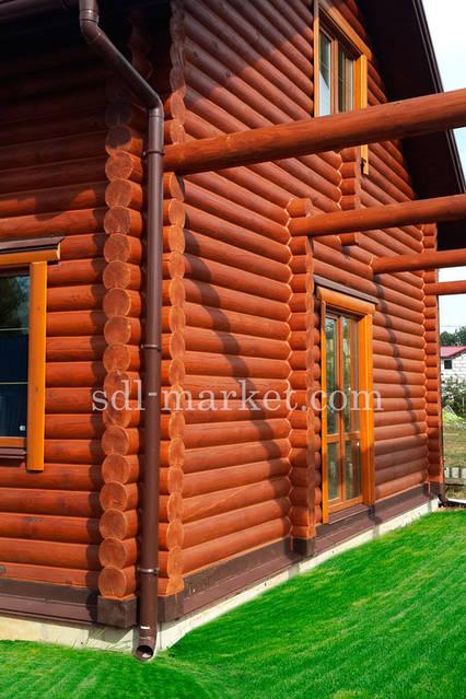 Покраска деревянного дома 2