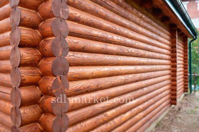 Покраска деревянного дома 7