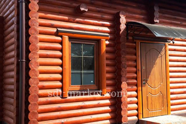 Покраска деревянного дома 8