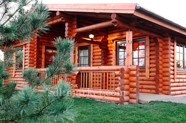 Покраска деревянного дома 12