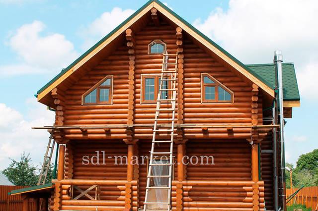 Покраска деревянного дома 14