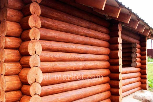 Покраска деревянного дома 16