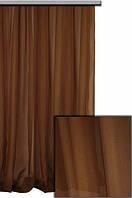 Тюль шифон однотонный коричневый А13к