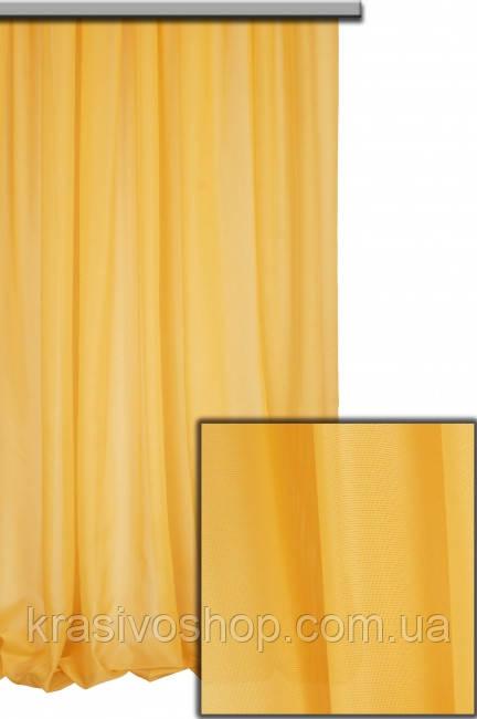 Тюль шифон однотонный оранжевый С28