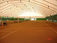 Навес на теннисный корт.