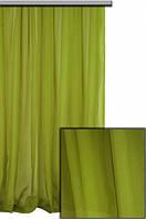 Тюль шифон однотонный оливковый С70, фото 1