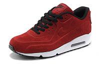 Кроссовки Nike Air Max 90 VT Red (Замш) (Красные)