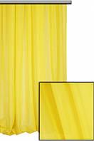 Тюль шифон однотонный темное желтый А48