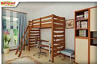 """Ліжко дитяче двухярусне Троя-2 MebiGrand / Кровать двухъярусная детская деревянная """"Троя-2"""" MebiGrand"""